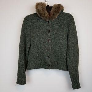 Sundance Lambswool hoodie sweater jacket